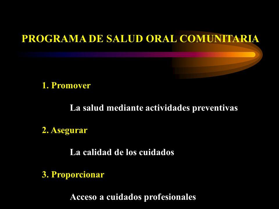 PROGRAMA DE SALUD ORAL COMUNITARIA