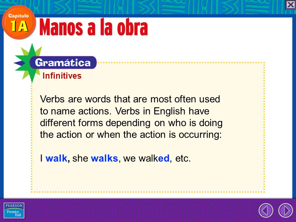 Verbs are words that are most often used