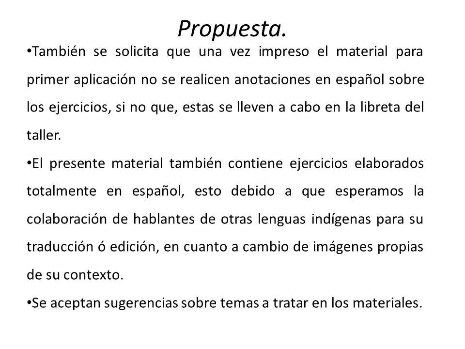 Propuesta.