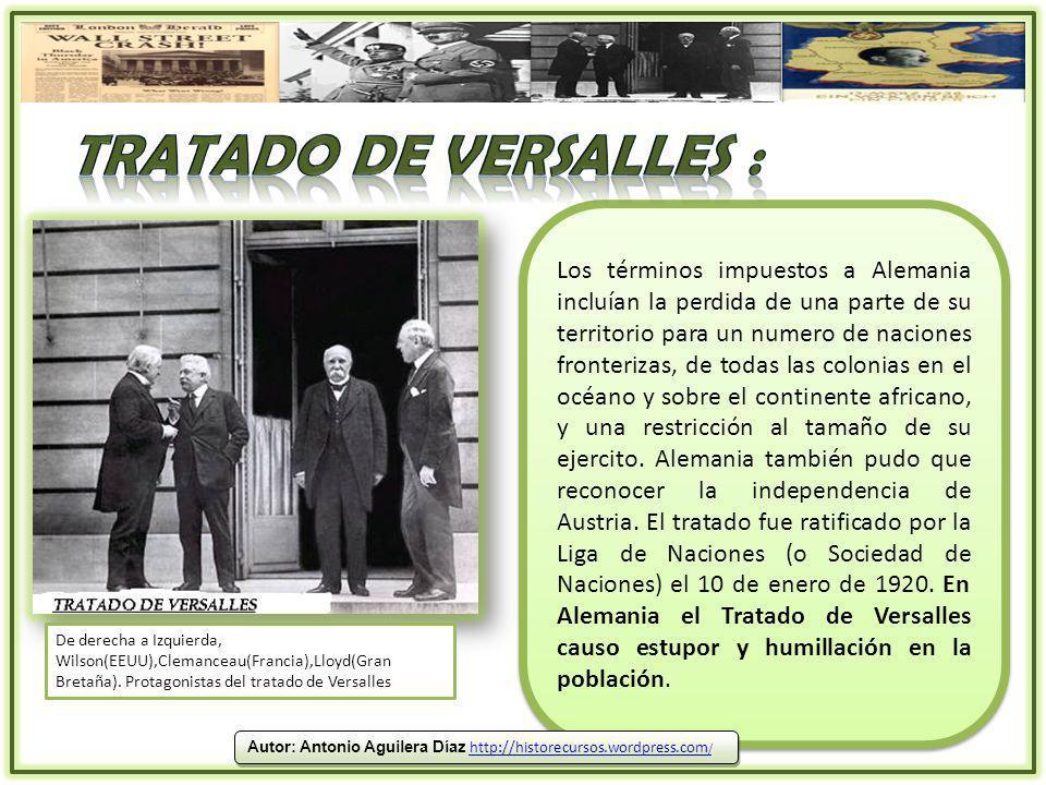 Tratado de versalles :