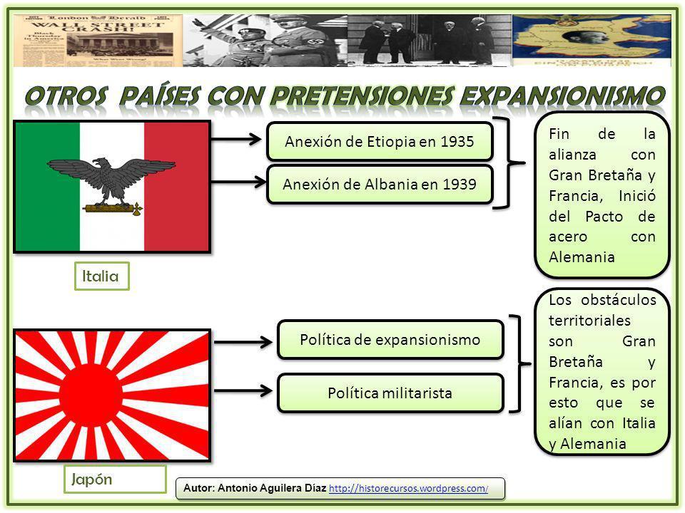 Otros países con pretensiones expansionismo