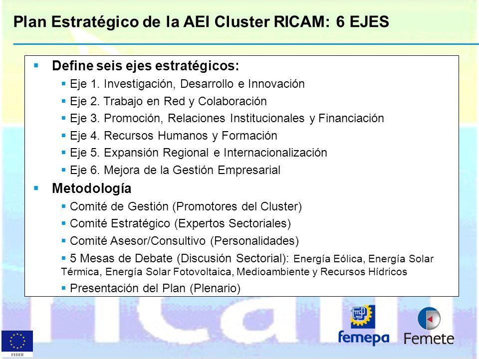 Plan Estratégico de la AEI Cluster RICAM: 6 EJES