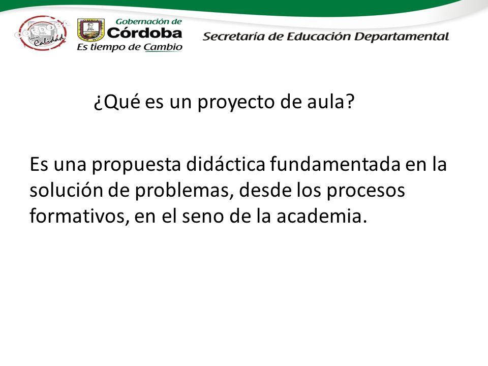 ¿Qué es un proyecto de aula