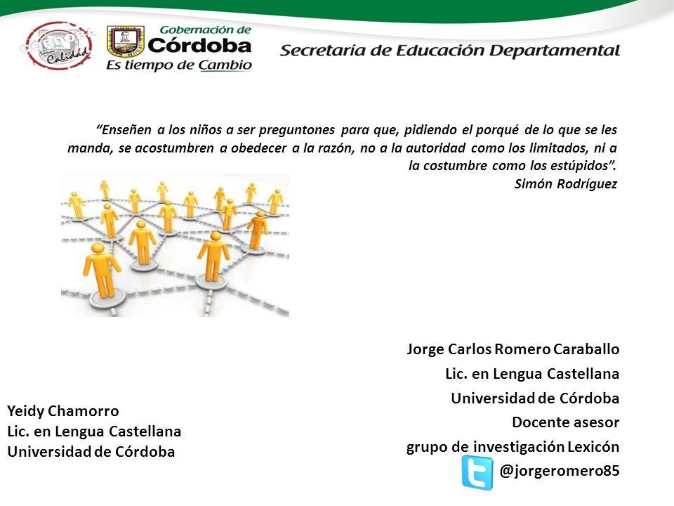 Jorge Carlos Romero Caraballo Lic. en Lengua Castellana