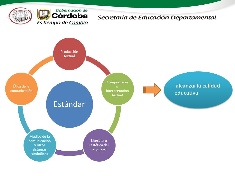 Estándar alcanzar la calidad educativa Producción textual