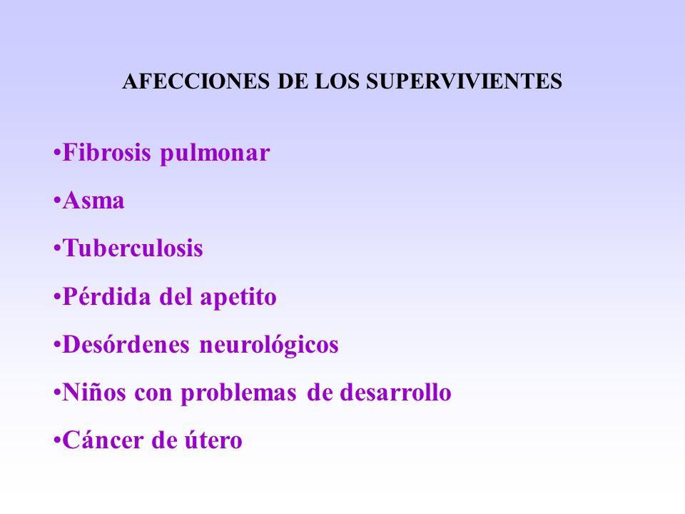 AFECCIONES DE LOS SUPERVIVIENTES