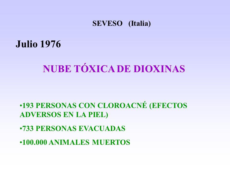 NUBE TÓXICA DE DIOXINAS