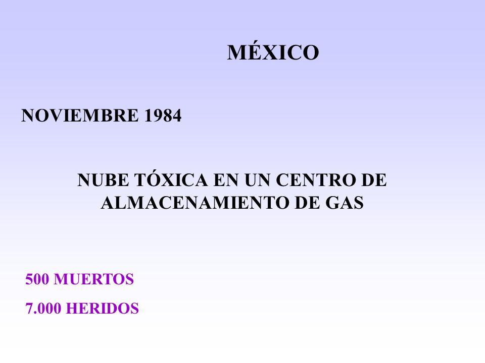 NUBE TÓXICA EN UN CENTRO DE ALMACENAMIENTO DE GAS