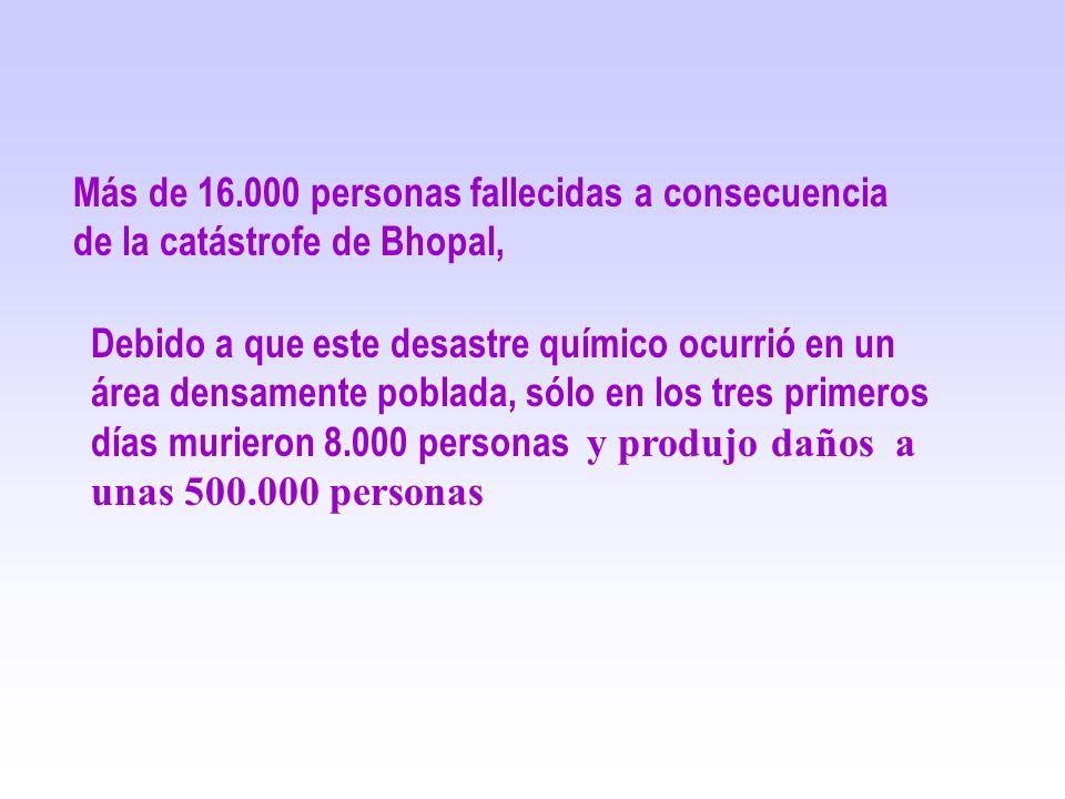 Más de 16.000 personas fallecidas a consecuencia de la catástrofe de Bhopal,