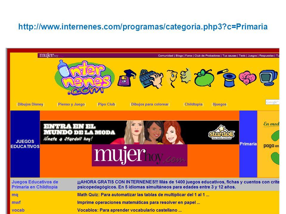 http://www.internenes.com/programas/categoria.php3 c=Primaria