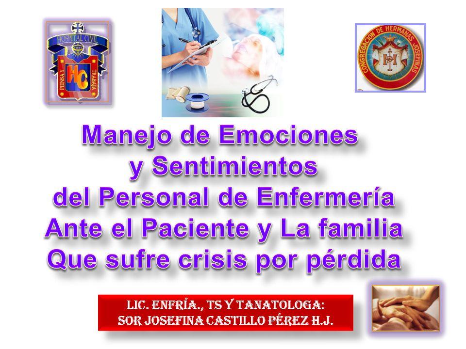 del Personal de Enfermería Ante el Paciente y La familia