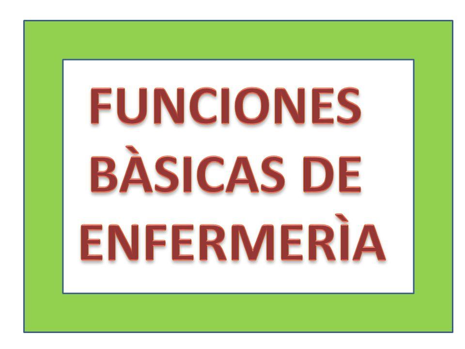 FUNCIONES BÀSICAS DE ENFERMERÌA