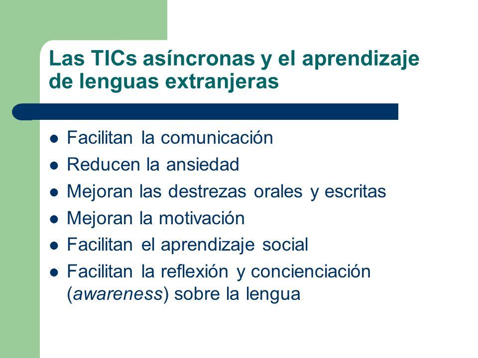 Las TICs asíncronas y el aprendizaje de lenguas extranjeras