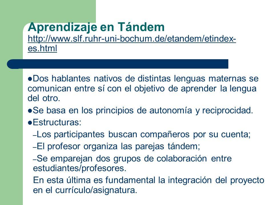 Aprendizaje en Tándem http://www. slf. ruhr-uni-bochum