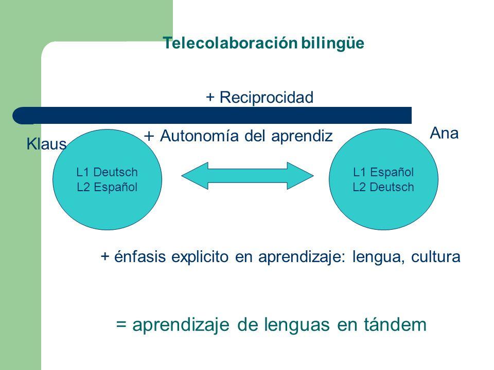 = aprendizaje de lenguas en tándem
