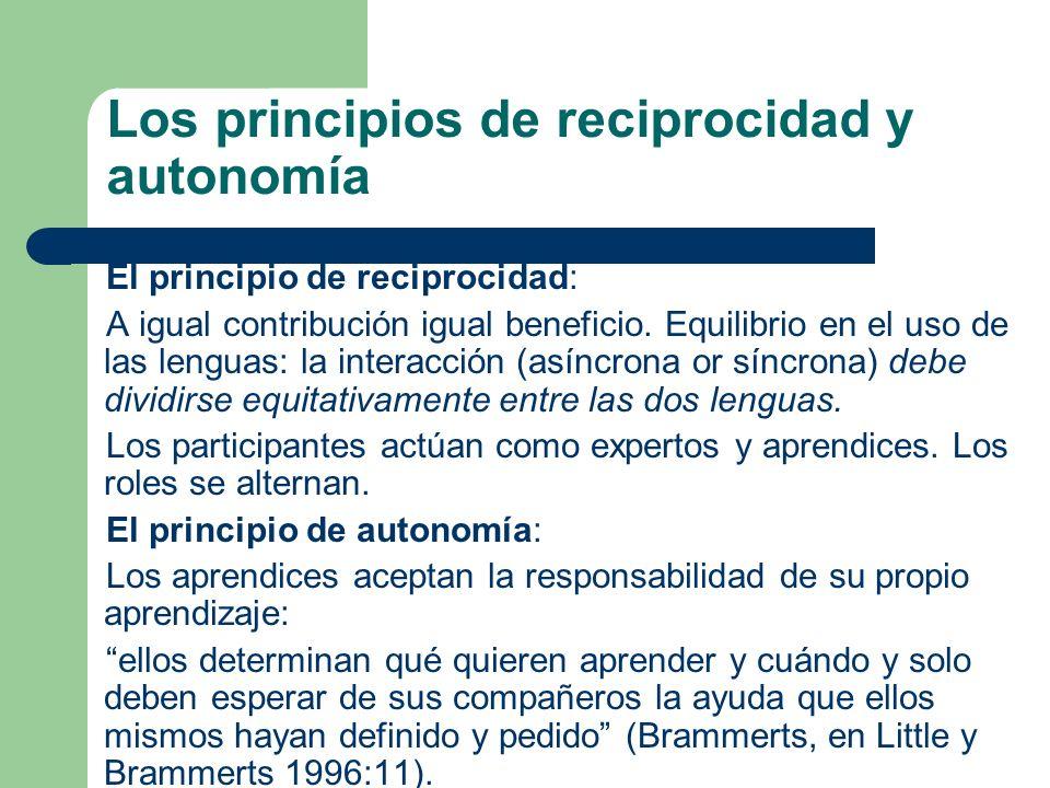 Los principios de reciprocidad y autonomía