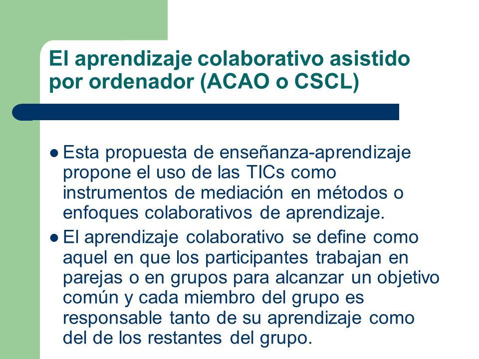 El aprendizaje colaborativo asistido por ordenador (ACAO o CSCL)