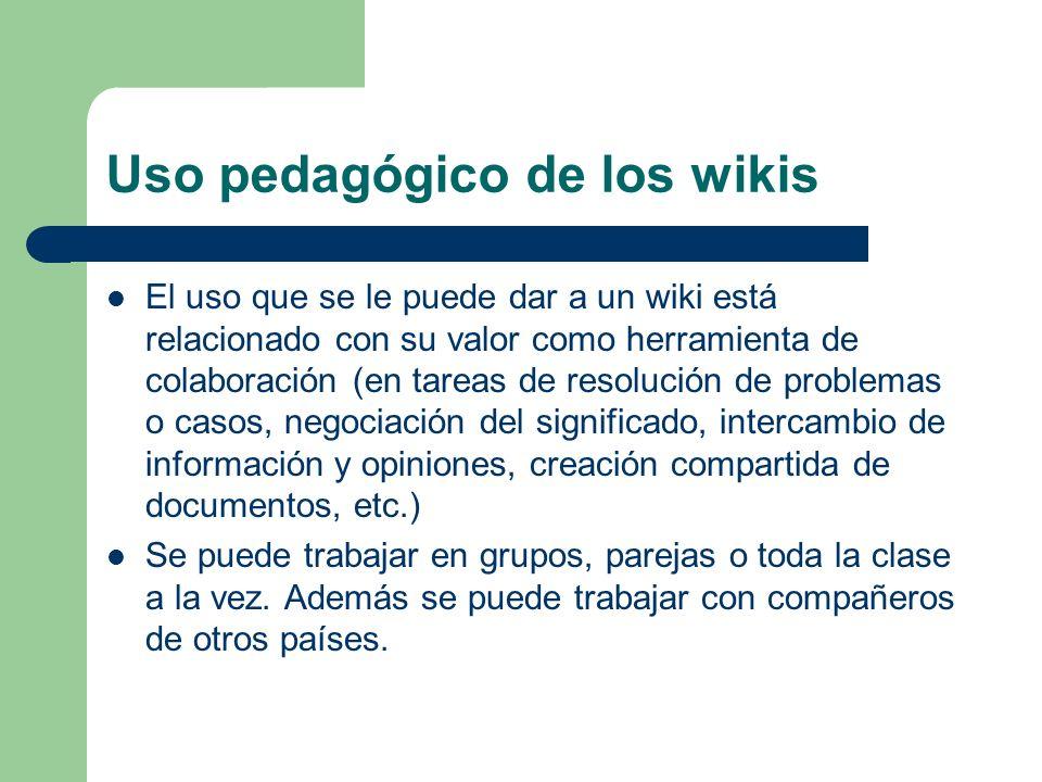 Uso pedagógico de los wikis