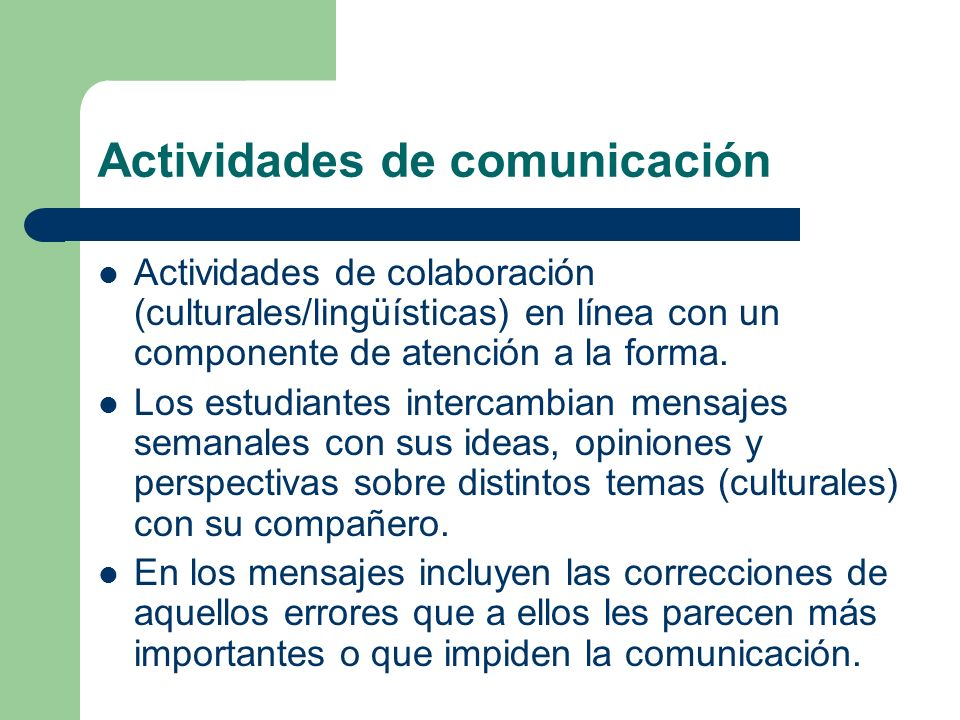 Actividades de comunicación