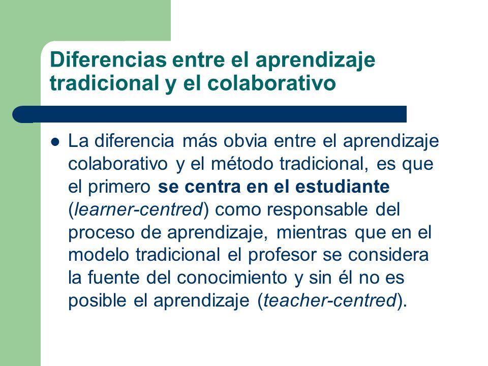 Diferencias entre el aprendizaje tradicional y el colaborativo