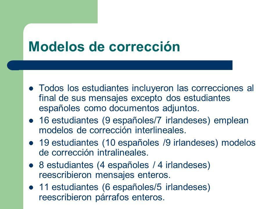 Modelos de corrección
