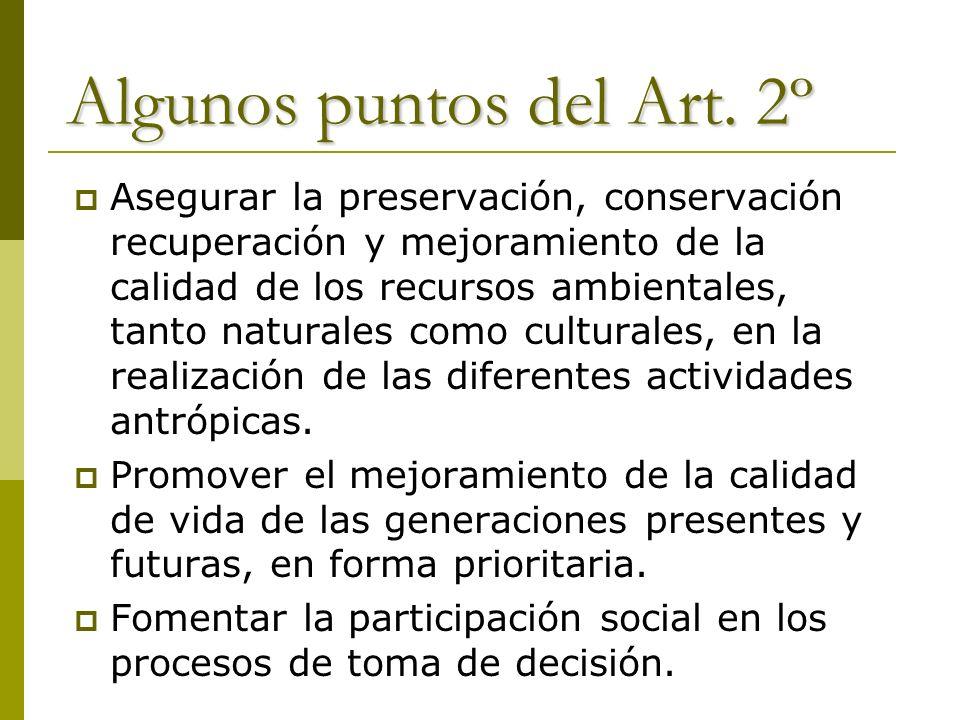 Algunos puntos del Art. 2º