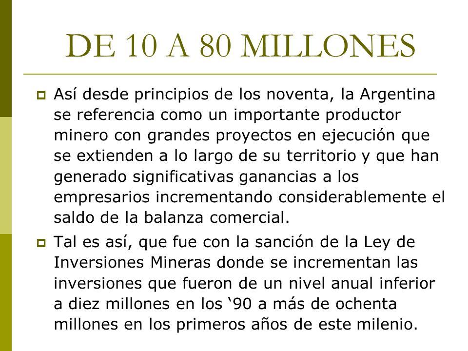 DE 10 A 80 MILLONES