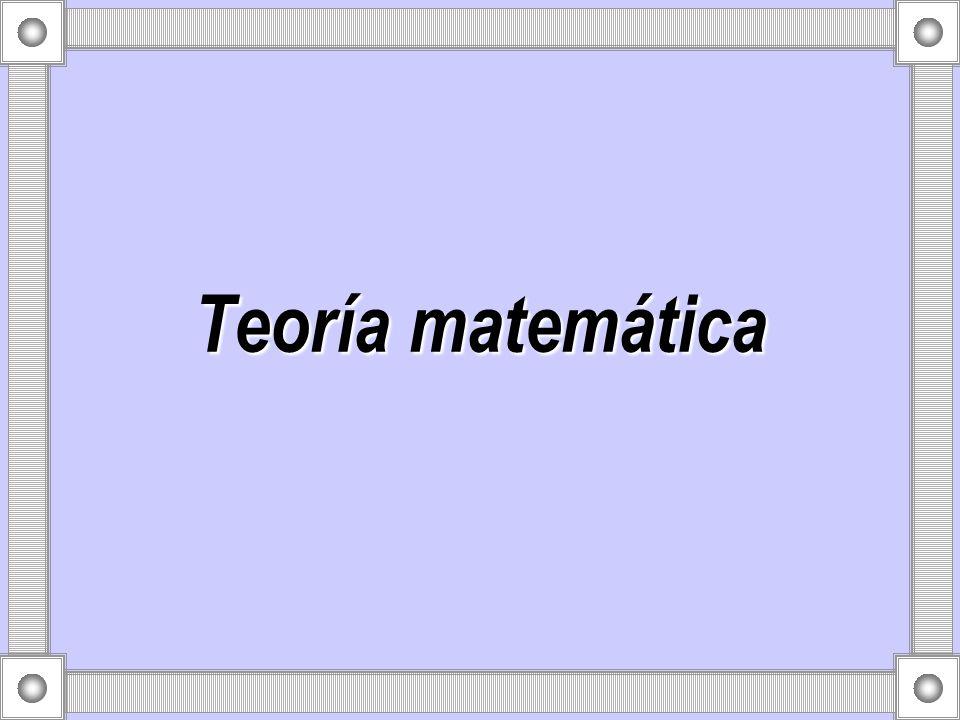 Teoría matemática