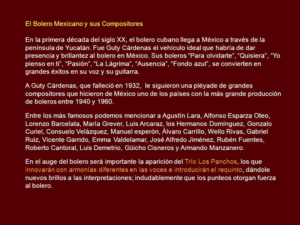 El Bolero Mexicano y sus Compositores