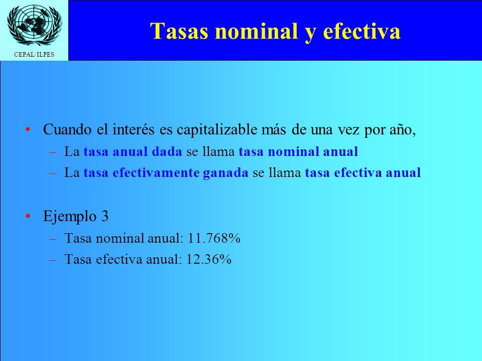 Tasas nominal y efectiva
