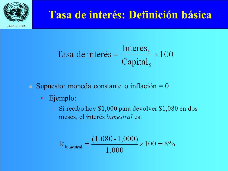 Tasa de interés: Definición básica