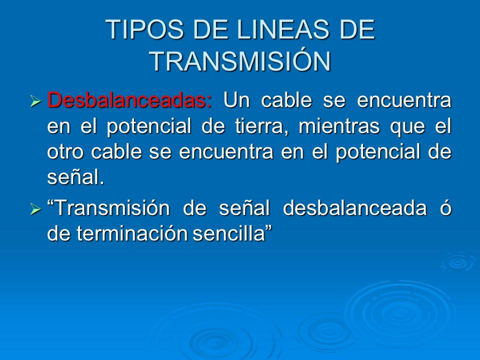 TIPOS DE LINEAS DE TRANSMISIÓN