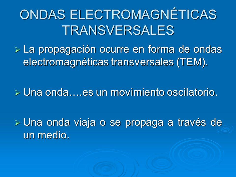 ONDAS ELECTROMAGNÉTICAS TRANSVERSALES