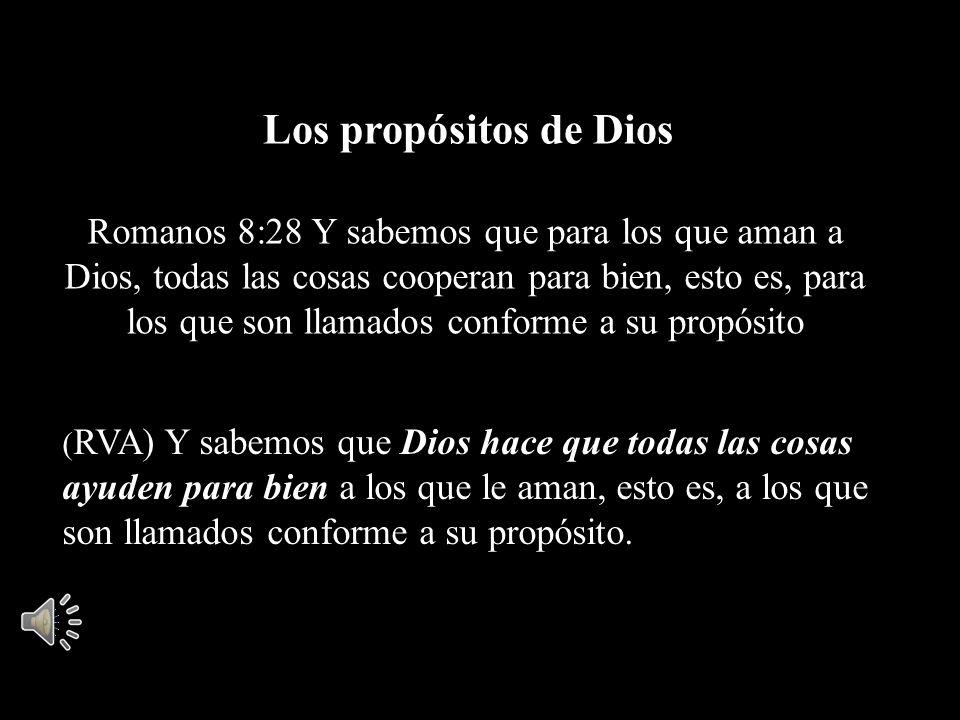 Los propósitos de Dios
