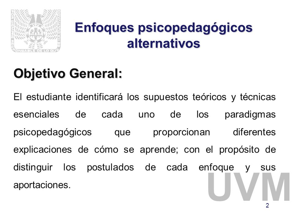 Enfoques psicopedagógicos alternativos