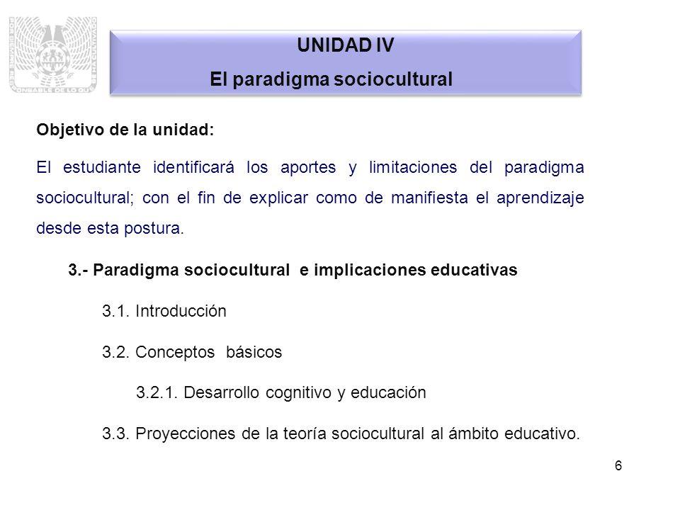 El paradigma sociocultural
