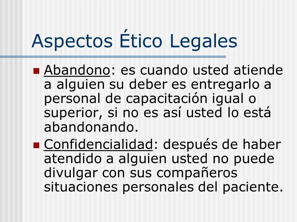 Aspectos Ético Legales