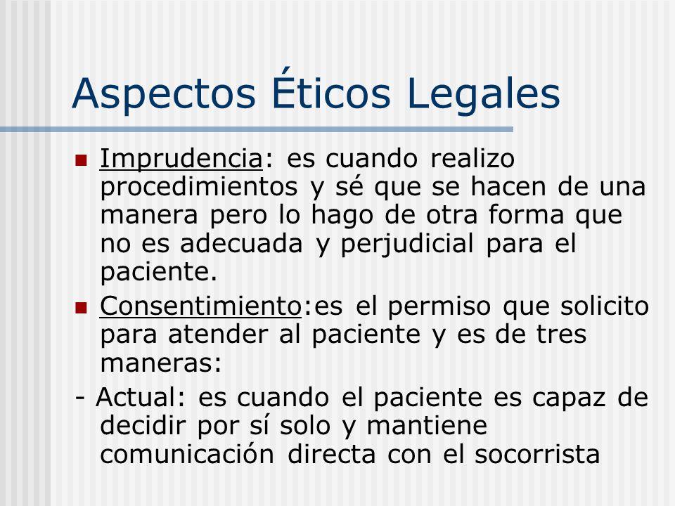 Aspectos Éticos Legales