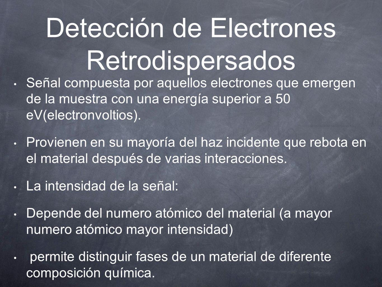 Detección de Electrones Retrodispersados