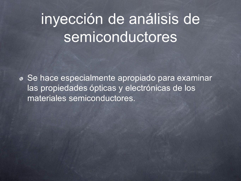 inyección de análisis de semiconductores