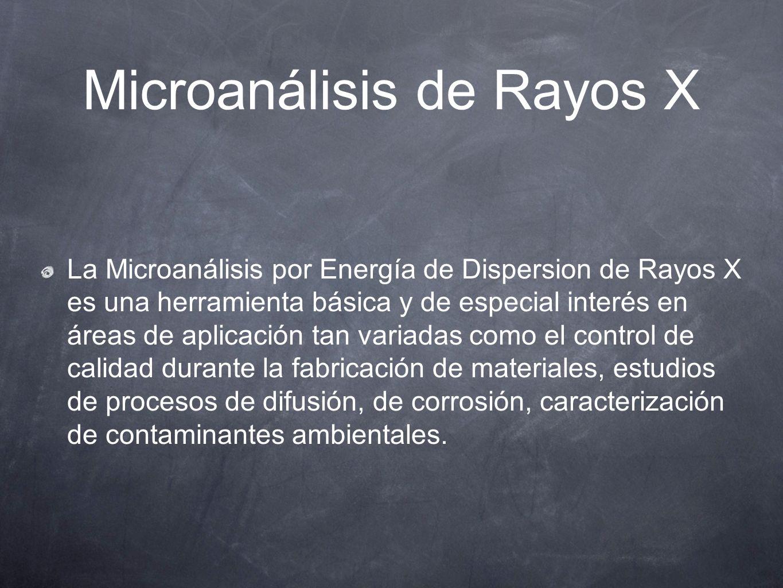 Microanálisis de Rayos X