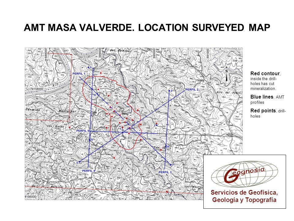 AMT MASA VALVERDE. LOCATION SURVEYED MAP
