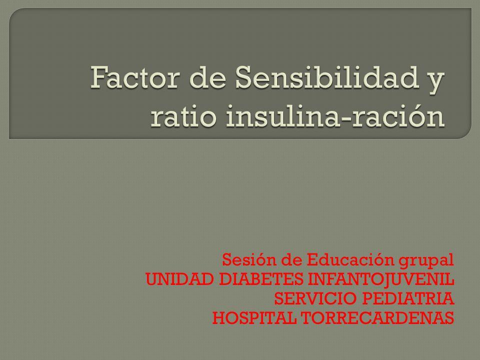 Factor de Sensibilidad y ratio insulina-ración
