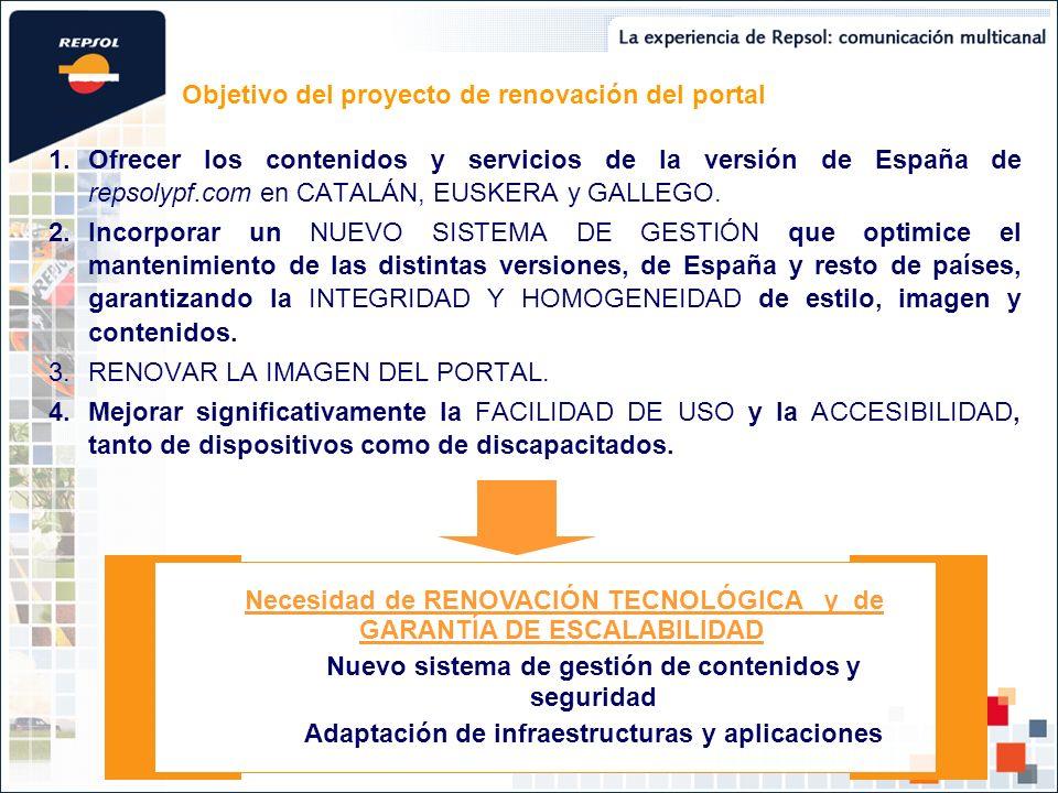 Objetivo del proyecto de renovación del portal