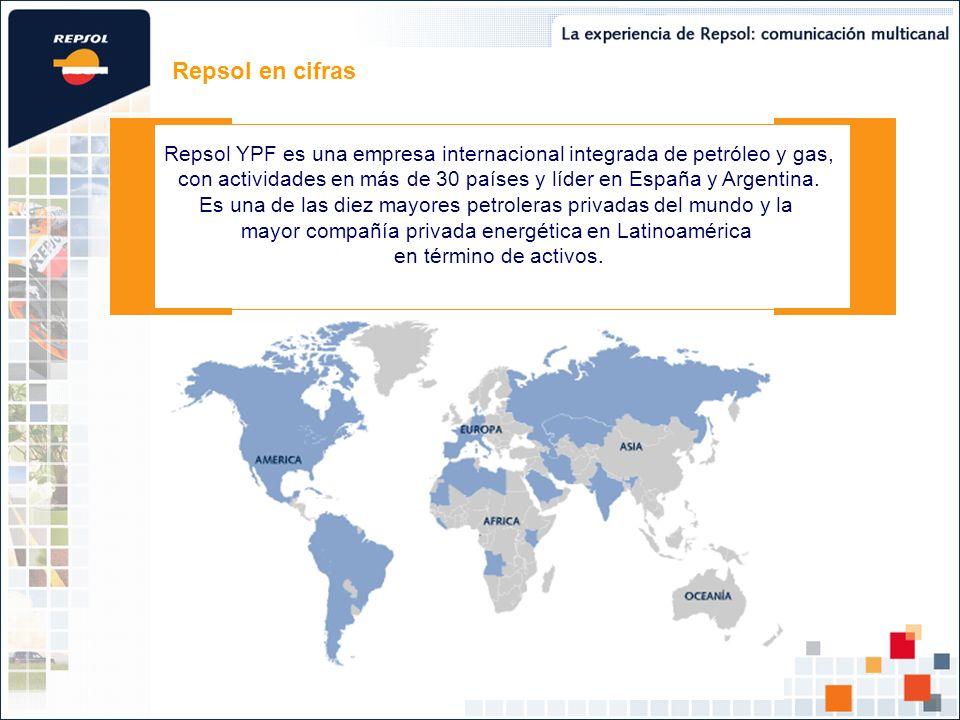 Repsol en cifras Repsol YPF es una empresa internacional integrada de petróleo y gas,