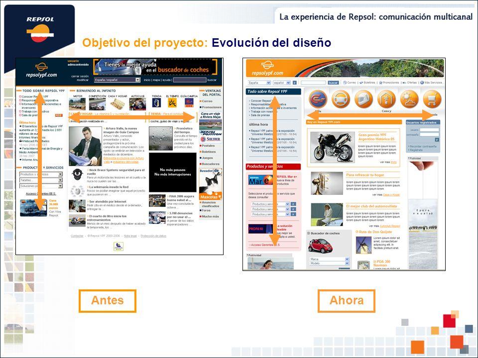 Objetivo del proyecto: Evolución del diseño
