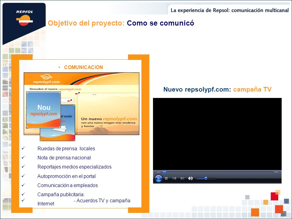 Nuevo repsolypf.com: campaña TV
