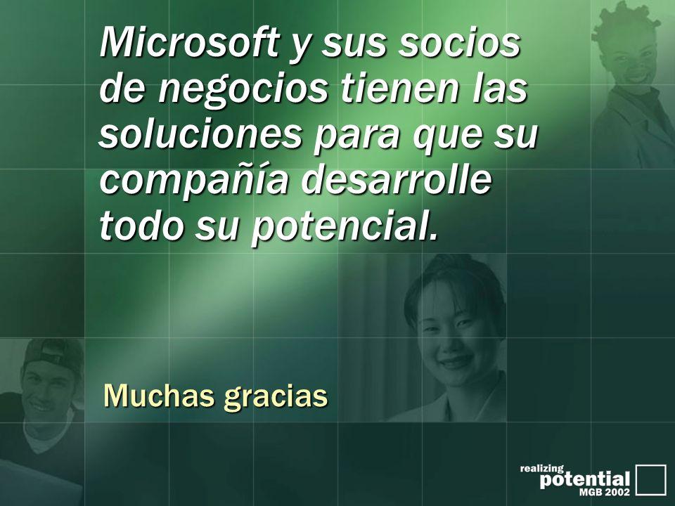 Microsoft y sus socios de negocios tienen las soluciones para que su compañía desarrolle todo su potencial.