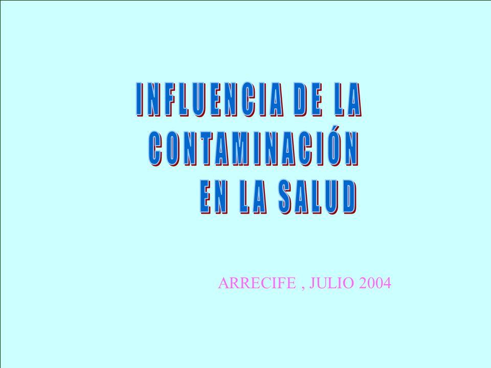 INFLUENCIA DE LA CONTAMINACIÓN EN LA SALUD ARRECIFE , JULIO 2004