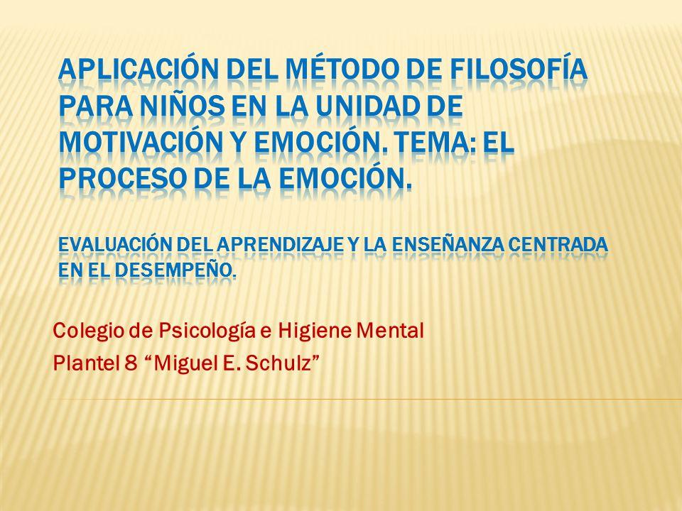 Colegio de Psicología e Higiene Mental Plantel 8 Miguel E. Schulz